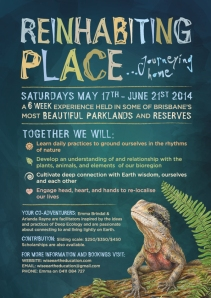 Reinhabiting Place Flyer: May-June 2014. Click to view.